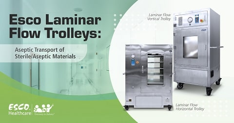 Esco Laminar Flow Trolleys: Aseptic Transport of Sterile / Aseptic Materials