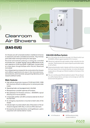 Cleanroom Air Shower (AES-EUS) Brochure ​​​